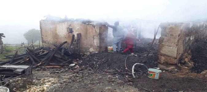 Kavaloluğu Köyünde Büyük Yangın
