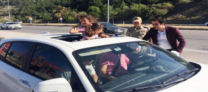 Kaymakam Altuntaş Trafik Denetime Katılıp Jandarma Karakolunu Ziyaret Etti
