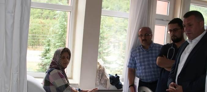 Kaymakam Kudret Kurnaz Yaralıları Hastanede Ziyaret Etti