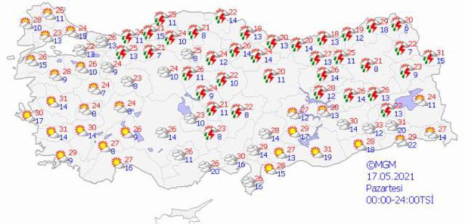 Meteoroloji Genel Müdürlüğü, hava durumu tahmin raporunu yayınladı