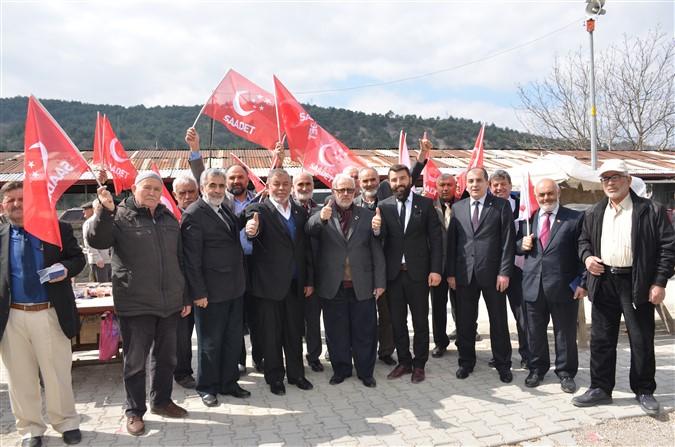 Saadet Partisi Pazar ve Esnaf Ziyareti Gerçekleştirdi
