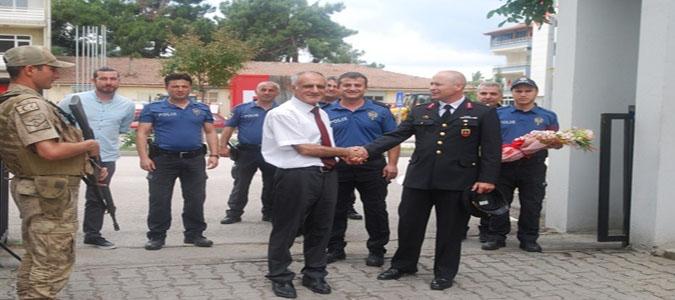 Taşova İlçe Emniyet Müdürlüğünden İlçe Jandarma Komutanlığına Ziyaret