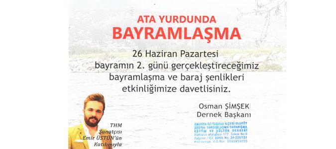 Uluköy dernek Başkanından Baraj Şenliğine davet