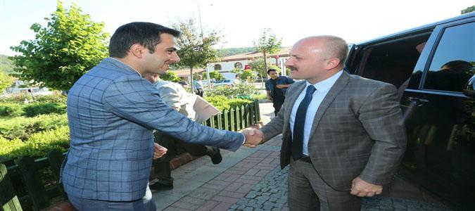 Vali Dr. Osman Varol, Taşova Kaymakam Vekili Talha Altuntaş'ı Ziyaret Etti.
